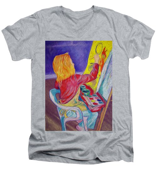 Little Ali Artist Men's V-Neck T-Shirt