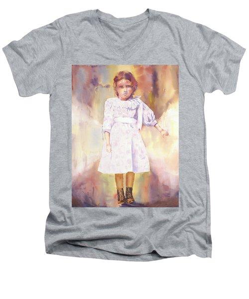 Little Anna Men's V-Neck T-Shirt by Tara Moorman