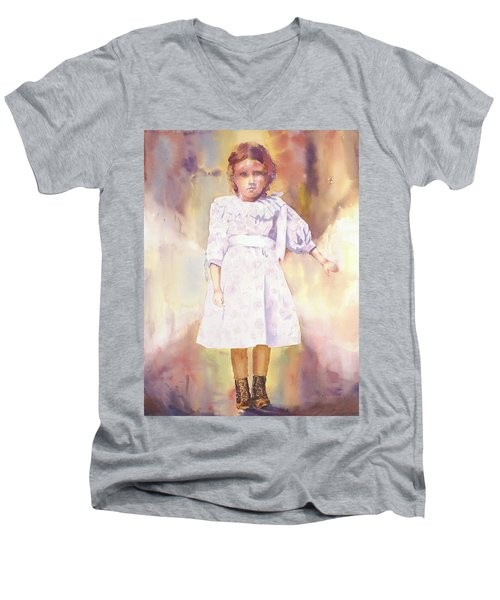 Little Anna Men's V-Neck T-Shirt