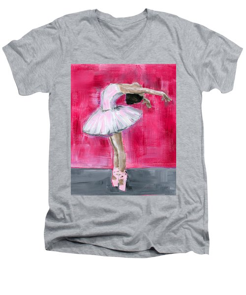 Little Ballerina #2 Men's V-Neck T-Shirt