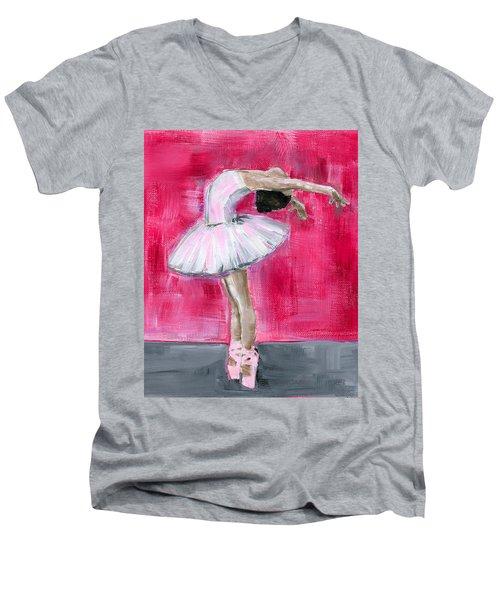 Little Ballerina #2 Men's V-Neck T-Shirt