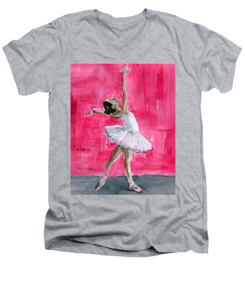 Little Ballerina Men's V-Neck T-Shirt