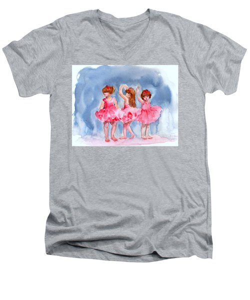 Little Ballerinas Men's V-Neck T-Shirt