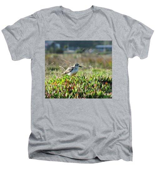 Little Bird Men's V-Neck T-Shirt by Yurix Sardinelly