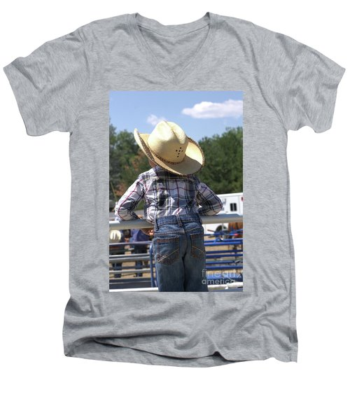 Little Cowboy Men's V-Neck T-Shirt