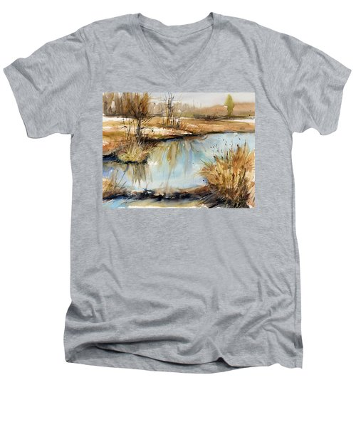 Little Dam Men's V-Neck T-Shirt