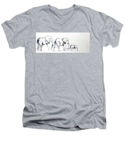 Little Elephant Family Men's V-Neck T-Shirt