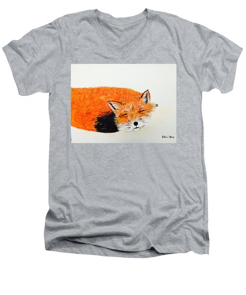 Little Fox Men's V-Neck T-Shirt