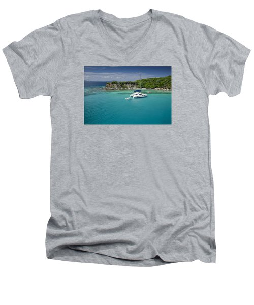 Little Harbor, Peter Island Men's V-Neck T-Shirt