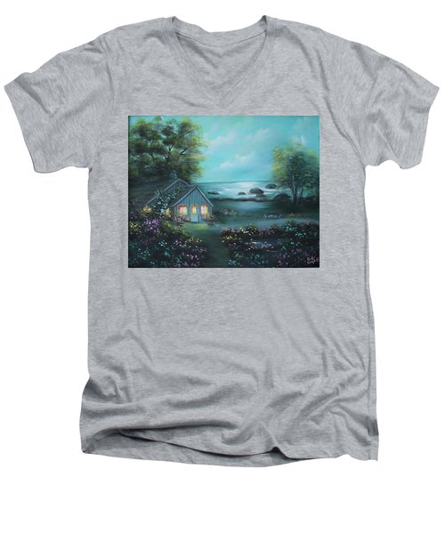 Little House By The Sea Men's V-Neck T-Shirt