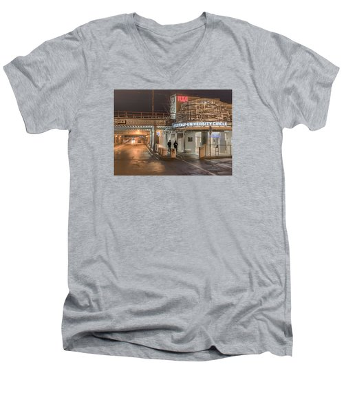 Little Italy Rta Men's V-Neck T-Shirt by Brent Durken