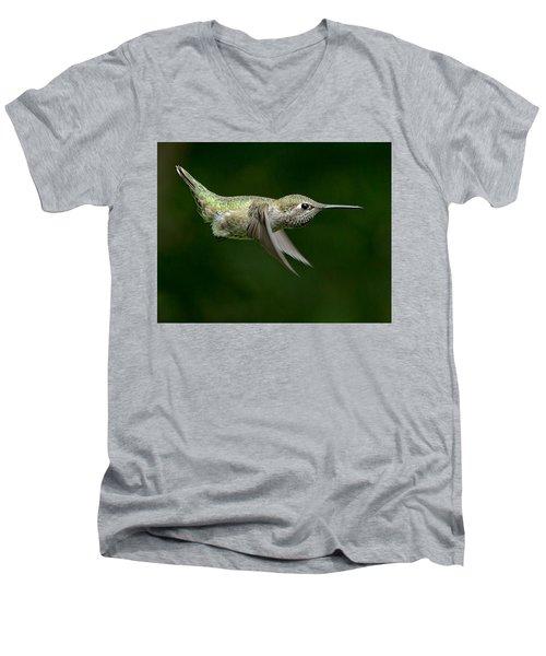 Little Missle Men's V-Neck T-Shirt by Sheldon Bilsker