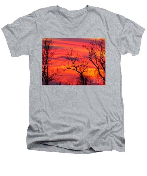 Little More Color At Sunset Men's V-Neck T-Shirt