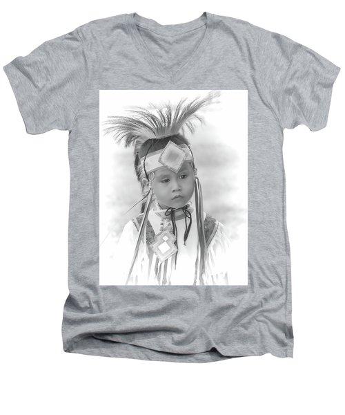 Little Native American Dancer Men's V-Neck T-Shirt
