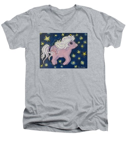 Little Pink Horse Men's V-Neck T-Shirt