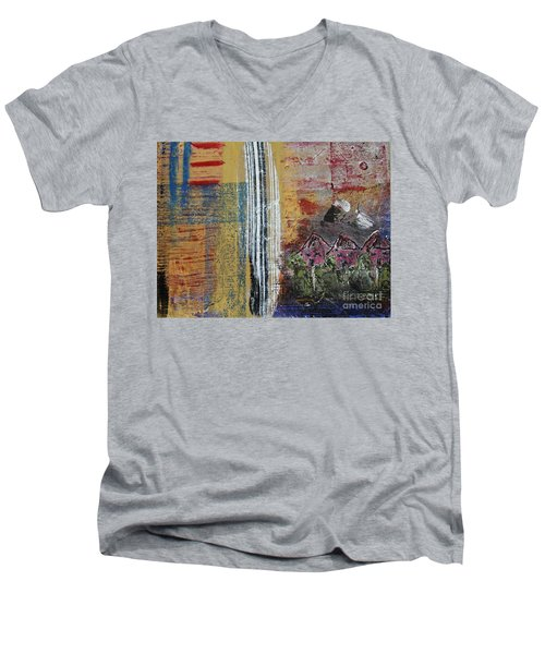 Little Pink Houses Men's V-Neck T-Shirt