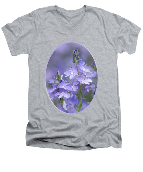 Little Purple Flowers Vertical Men's V-Neck T-Shirt