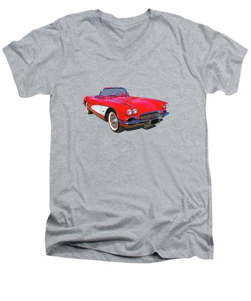 Little Red 61 Men's V-Neck T-Shirt