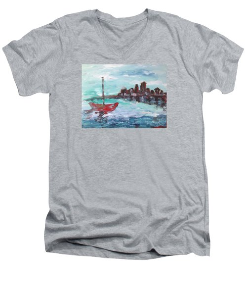Coast Men's V-Neck T-Shirt by Roxy Rich