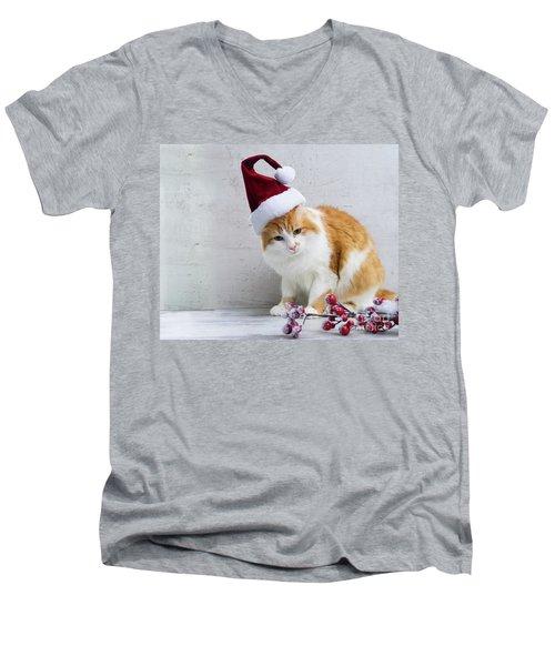 Little Santa Helper II Men's V-Neck T-Shirt