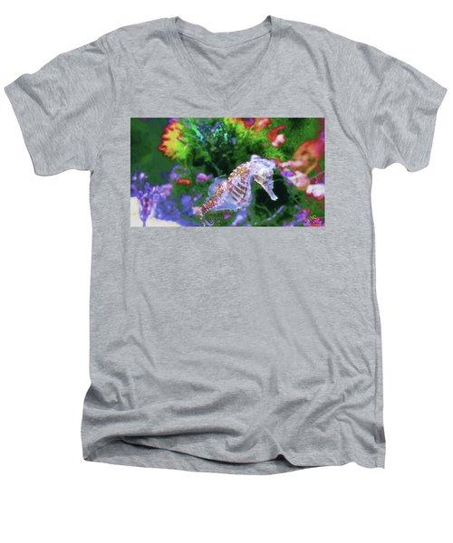 Little Sea Horse Men's V-Neck T-Shirt