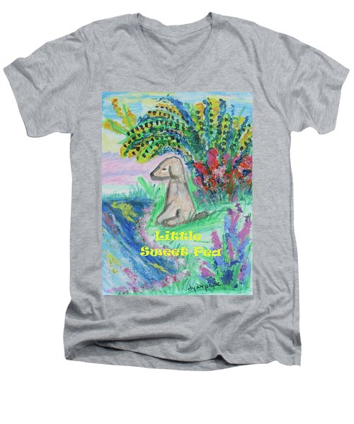 Little Sweet Pea With Title Men's V-Neck T-Shirt