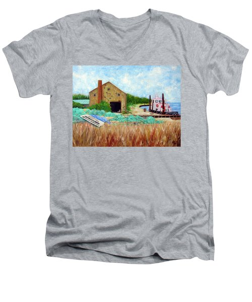 Little Toot Tug Boat Men's V-Neck T-Shirt