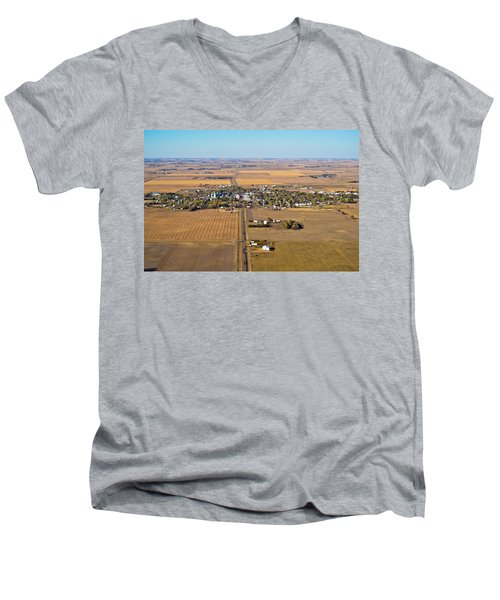 Little Town On The Prairie Men's V-Neck T-Shirt