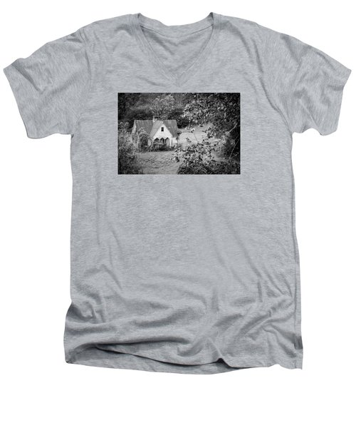 Little Victorian Styled Farm House In The Mountains Men's V-Neck T-Shirt by Kelly Hazel