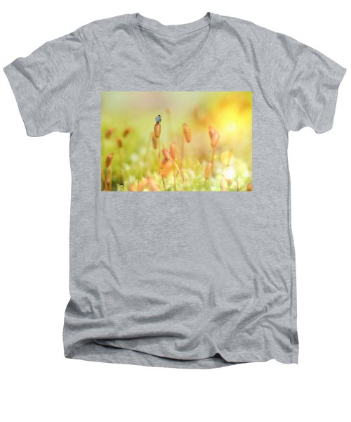Little World Men's V-Neck T-Shirt by Nikki McInnes