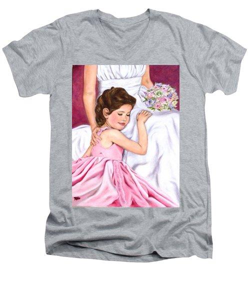 Littlest Wedding Belle Men's V-Neck T-Shirt