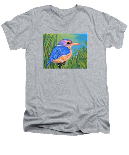 Litttle King Of The Fishers Men's V-Neck T-Shirt