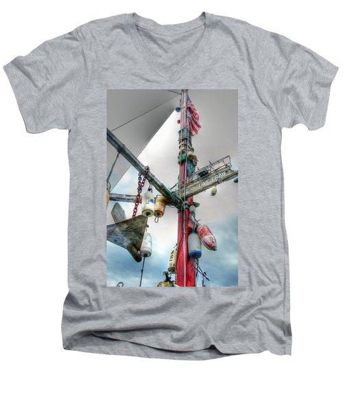 Live Crab Hdr 2164 Men's V-Neck T-Shirt
