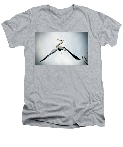 Men's V-Neck T-Shirt featuring the photograph Live Free And Fly by Rodney Campbell