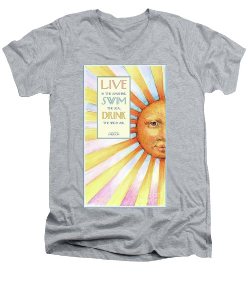 Live In The Sunshine Men's V-Neck T-Shirt