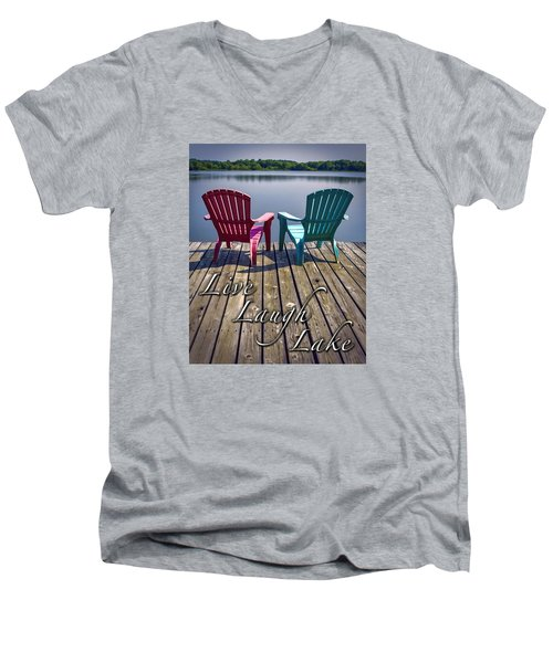 Live Laugh Lake Men's V-Neck T-Shirt