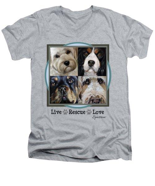 Live Rescue Love Men's V-Neck T-Shirt
