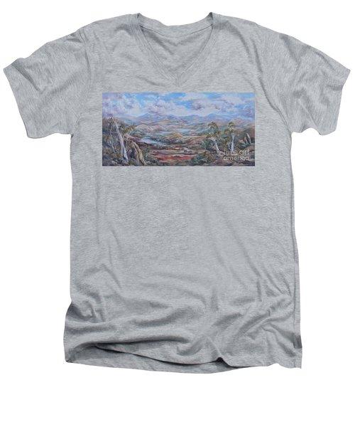 Living Desert Broken Hill Men's V-Neck T-Shirt