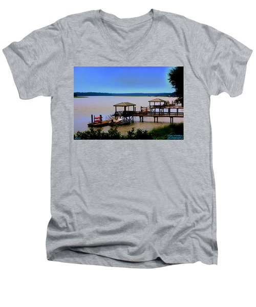 Living In The Lowcountry Men's V-Neck T-Shirt