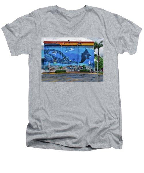 Living Reef Mural Men's V-Neck T-Shirt