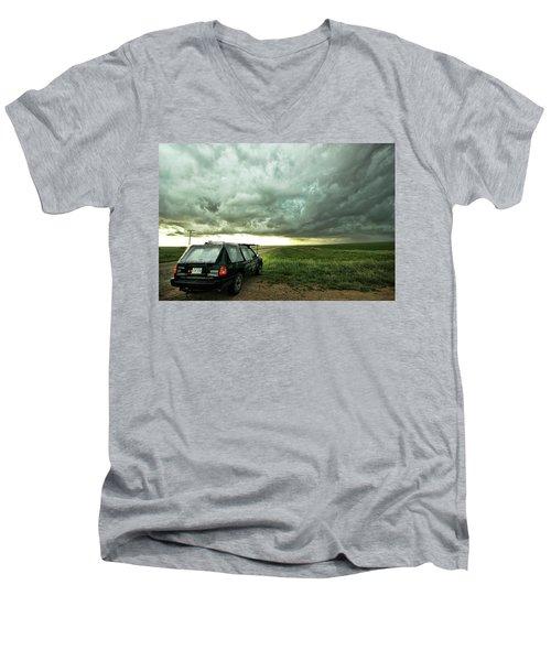 Living Saskatchewan Sky Men's V-Neck T-Shirt