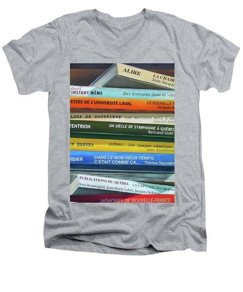 Livres ... Men's V-Neck T-Shirt
