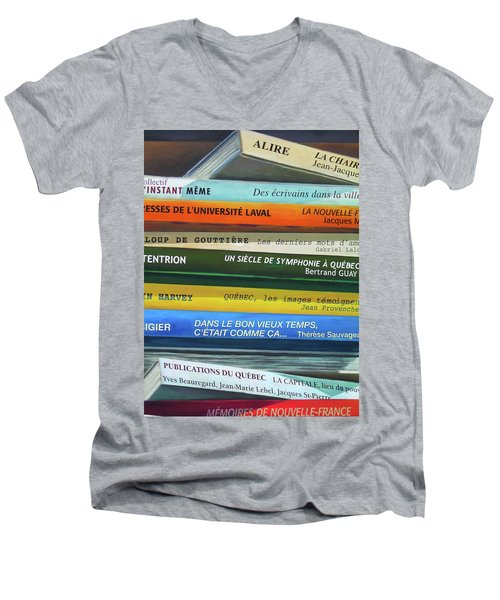 Livres ... Men's V-Neck T-Shirt