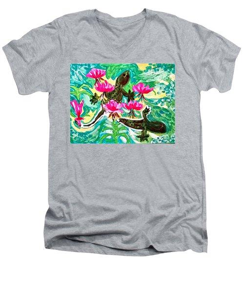 Lizards Men's V-Neck T-Shirt