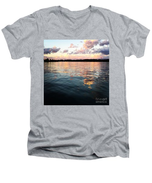 Lkn Water And Sky  I Men's V-Neck T-Shirt