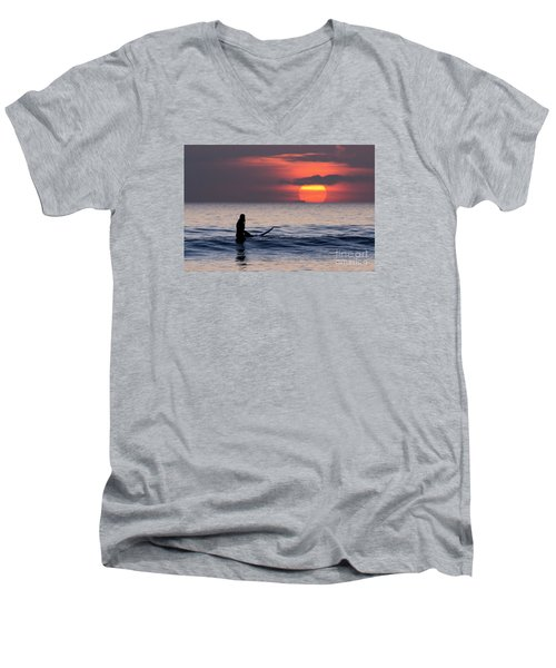 Llangennith One More Wave Men's V-Neck T-Shirt