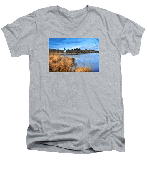Llyn Llech Owain Country Park 1 Men's V-Neck T-Shirt