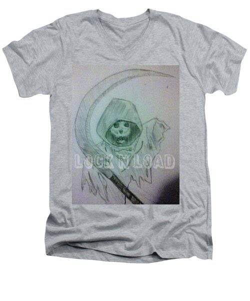 Lnl Reaper Specter Men's V-Neck T-Shirt