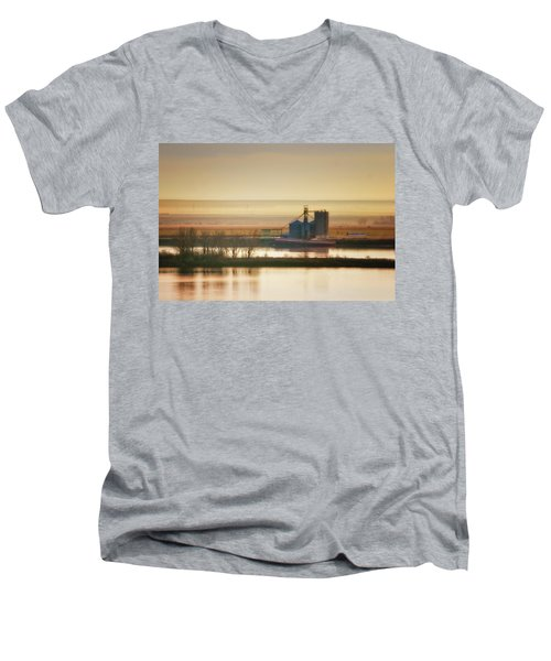 Men's V-Neck T-Shirt featuring the photograph Loading Grain by Albert Seger