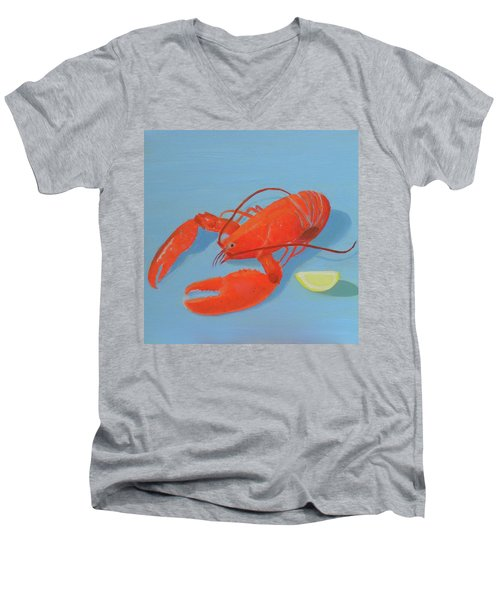 Lobster And Lemon Men's V-Neck T-Shirt